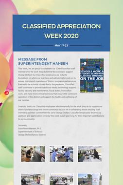 Classified Appreciation Week 2020