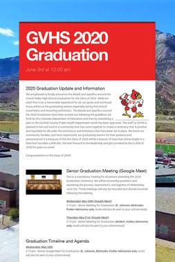 GVHS 2020 Graduation
