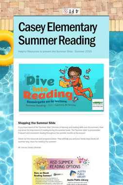 Casey Elementary Summer Reading