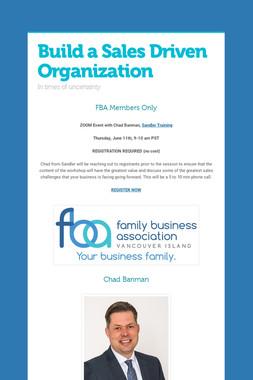 Build a Sales Driven Organization