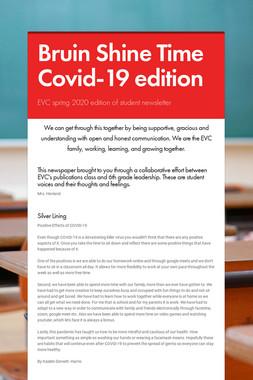 Bruin Shine Time Covid-19 edition