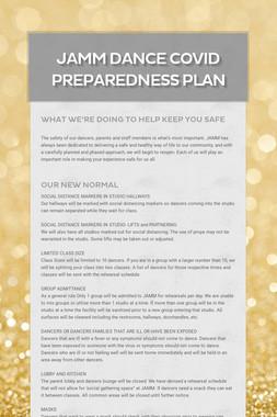 JAMM Dance COVID Preparedness Plan