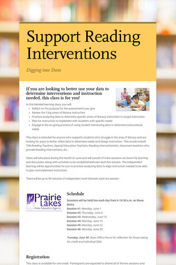 Support Reading Interventions