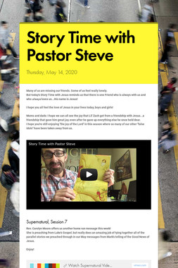 Story Time with Pastor Steve