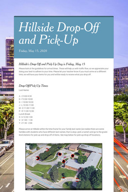 Hillside Drop-Off and Pick-Up