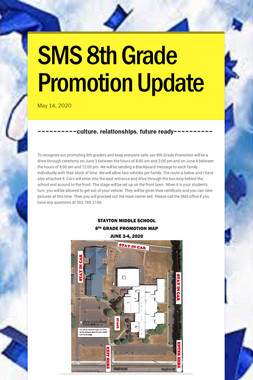 SMS 8th Grade Promotion Update