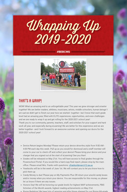 Wrapping Up 2019-2020