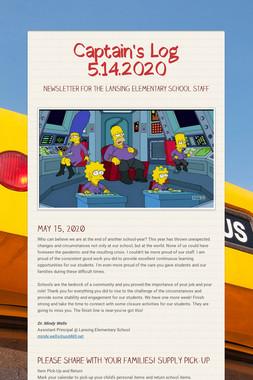 Captain's Log 5.14.2020