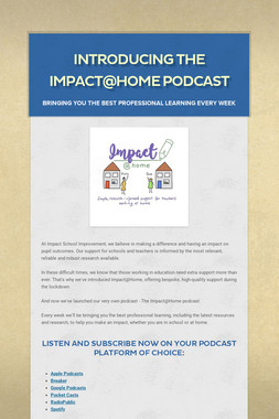 Introducing the Impact@Home podcast