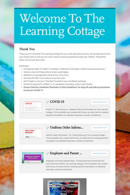 Welcome To The Learning Cottage