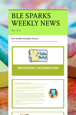BLE SPARKS WEEKLY NEWS