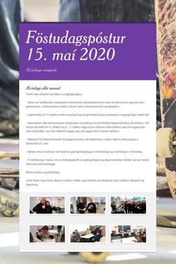 Föstudagspóstur 15. maí 2020