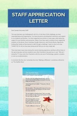 Staff Appreciation Letter