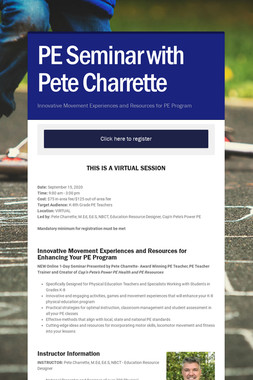 PE Seminar with Pete Charrette