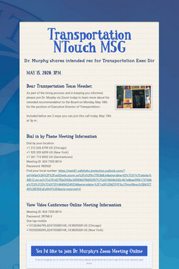 Transportation NTouch MSG