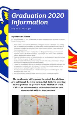 Graduation 2020 Information