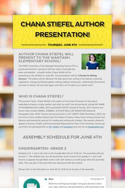 Chana Stiefel Author Presentation!