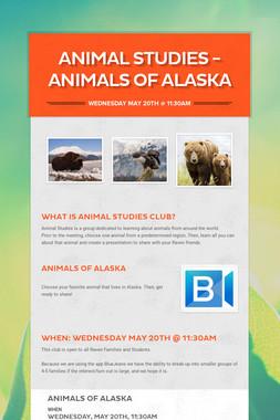 Animal Studies - Animals of Alaska