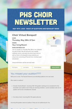 PHS Choir Newsletter