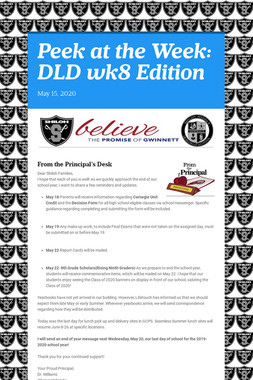 Peek at the Week: DLD wk8 Edition