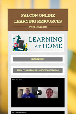 Falcon Online Learning Resources
