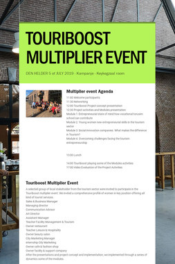 TOURIBOOST MULTIPLIER EVENT