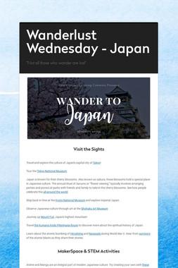 Wanderlust Wednesday - Japan