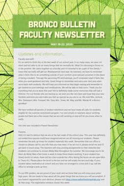 Bronco Bulletin Faculty Newsletter