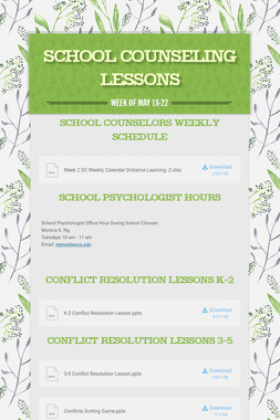 School Counseling Lessons