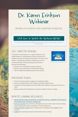 Dr. Karen Erickson Webinar