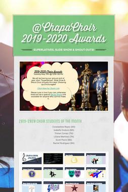 @ChapaChoir 2019-2020 Awards