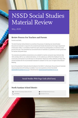 NSSD Social Studies Material Review
