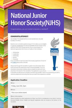 National Junior Honor Society(NJHS)