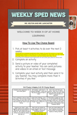 Weekly SPED News
