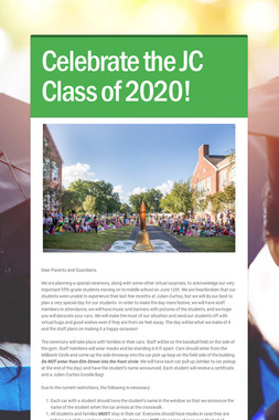 Celebrate the JC Class of 2020!