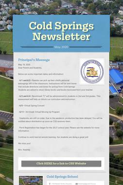 Cold Springs Newsletter