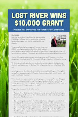 Lost River wins $10,000 grant