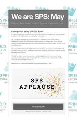 We are SPS: May