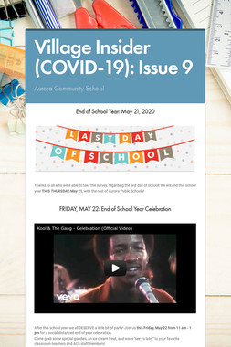 Village Insider (COVID-19): Issue 9