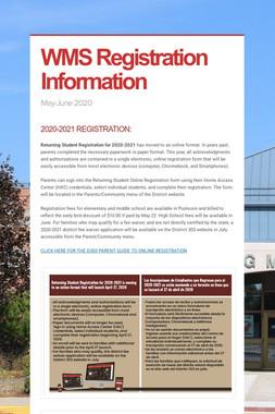 WMS Registration Information