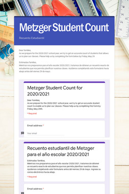 Metzger Student Count