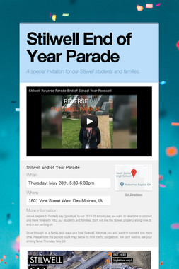 Stilwell End of Year Parade