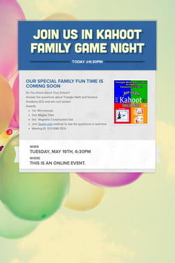 Join us in Kahoot Family Game Night