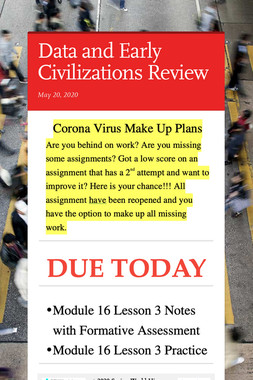 Data and Early Civilizations Review