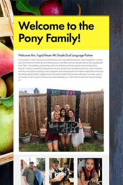 Welcome to the Pony Family!