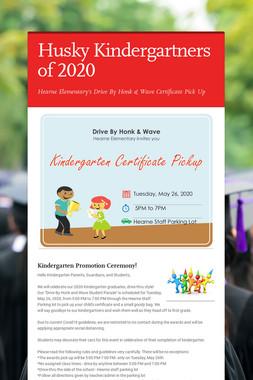 Husky Kindergartners of 2020