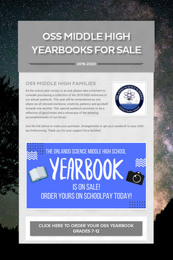 OSS Middle High Yearbooks for sale