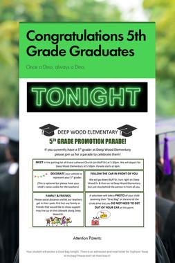 Congratulations 5th Grade Graduates