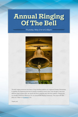 Annual Ringing Of The Bell