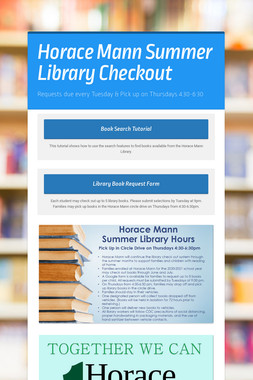 Horace Mann Summer Library Checkout